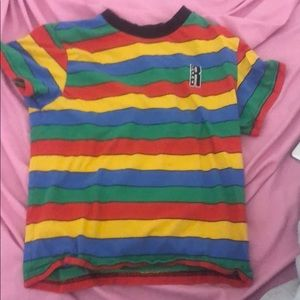 Rainbow striped dollskill shirt (medium)